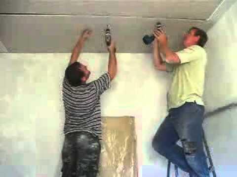 Монтируем гипсокартонный потолок на кухне