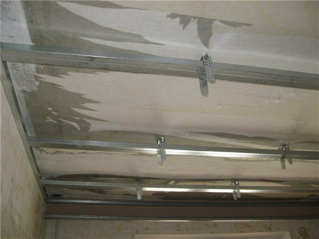 Каркас для одноуровневого подвесного потолка из гипсокартона
