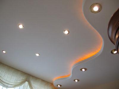 Гипсокартонный окрашенный потолок