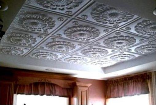 Готовая комната с потолочной плиткой