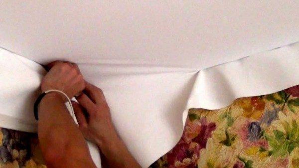 «Холодный» монтаж тканевого потолка