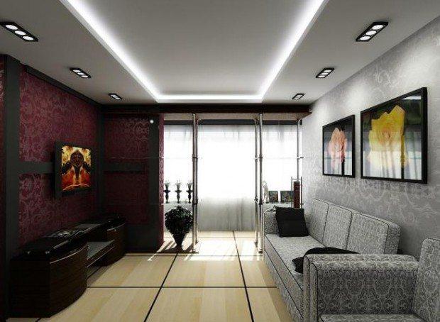 Впрочем, визуально подвесной потолок может сделать хрущевку и более просторной