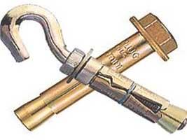 Анкерный болт и анкерный крюк, которые можно использовать для крепления люстры