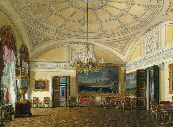 Художественный потолок в одном и залов Зимнего Дворца.