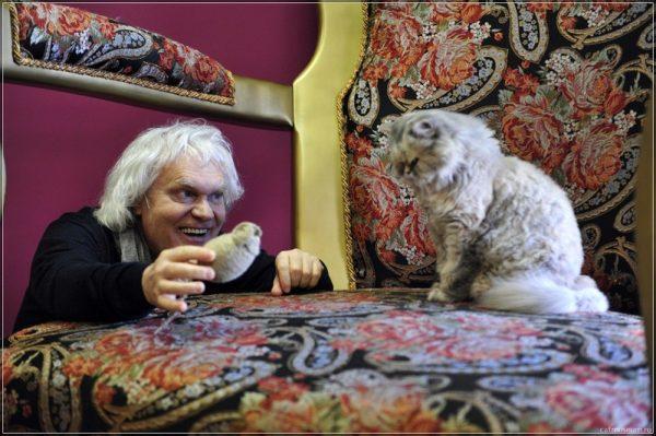 Юрий Куклачев дрессирует кошек