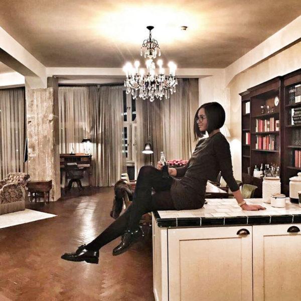 Кухня и столовая в квартире Ольги