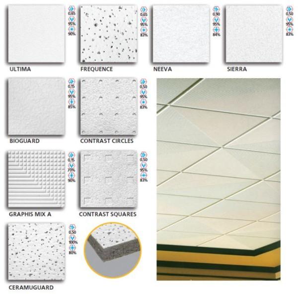 Разновидности плит для потолка