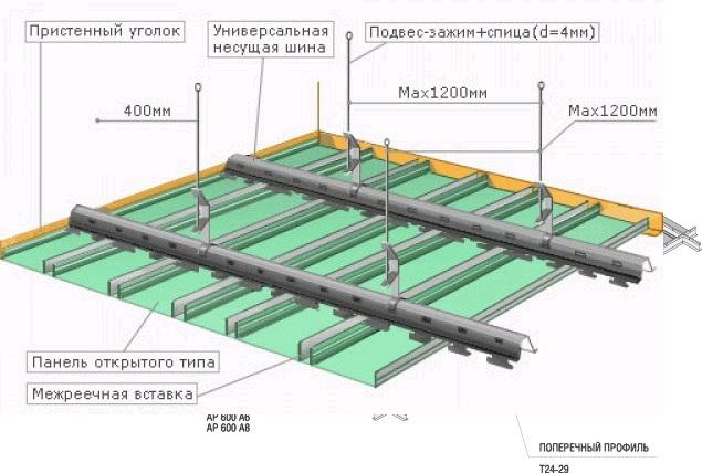 Инструкция По Монтажу Реечный Потолок - фото 6