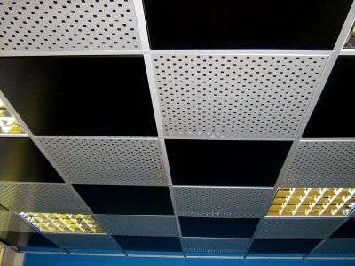 Потолок черно-белый Армстронг.
