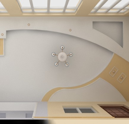 Оригинальный дизайн подвесного потолка.