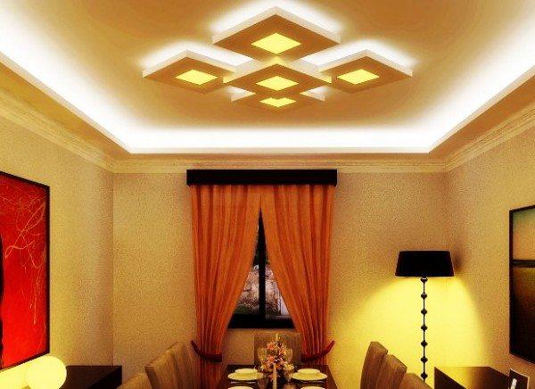 Интересная реализация конструкции парящего потолка