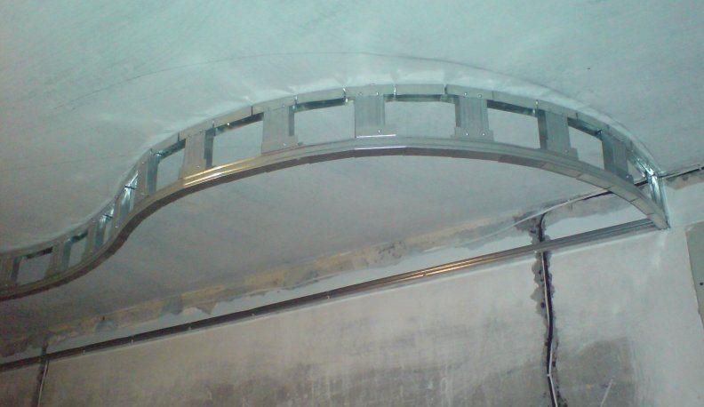 Создание фигурного профильного каркаса под второй уровень подвесного потолка