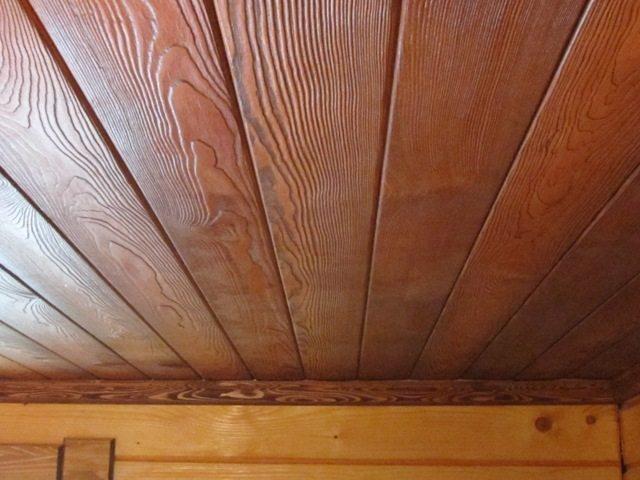 Подшивной потолок из вагонки