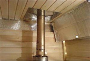 Разделка потолочная на деревянном потолке