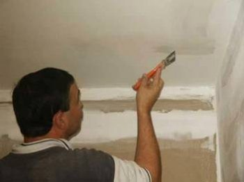 Подготовка потолка к наклеиванию плитки