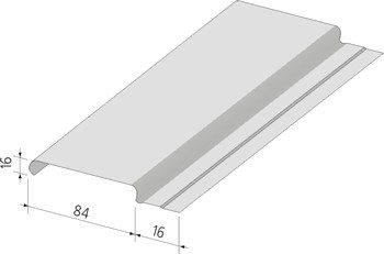 На схеме типичная форма и размер рейки для потолка закрытого типа.