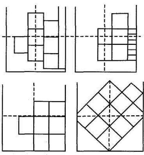 Неправильная и правильная схема наклеивания плитки на потолок