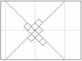 Схема диагонального метода поклейки