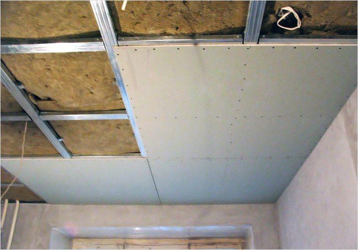 Гипсокартон поможет скрыть неровности потолка