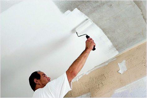 Побелка потолка – привычный способ отделки поверхностей