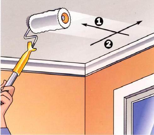 Причем первый слой нанесем перпендикулярно линии окон, а второй – вдоль и от окна к двери, что идеально скроет все недостатки окраски