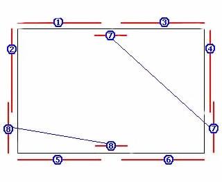 Расчет количества потолочного плинтуса можно производить, опираясь на данную схему