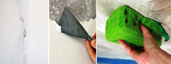 Подготовка поверхности к нанесению меловой или известковой побелки