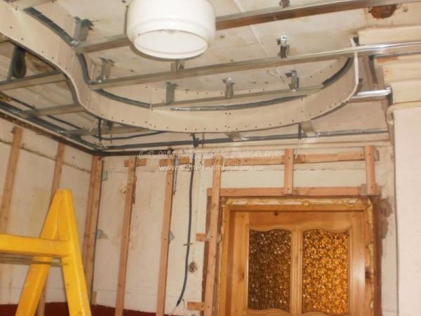 Как сделать навесной потолок своими руками из гипсокартона