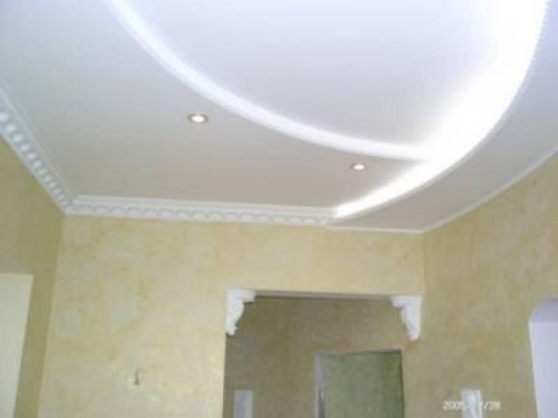Потолок из гипсокартона своими руками на кухне