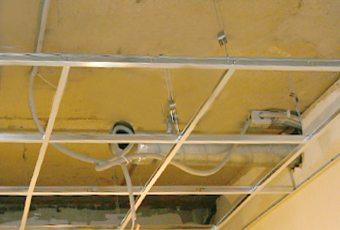 как сделать на потолке гипсокартонную конструкцию