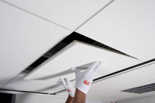 Подвесная система обеспечит нам идеально ровные потолки.