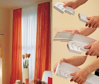 Карниз для штор с декоративной накладкой