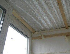 Утепление потолка фольгированным пенополистиролом