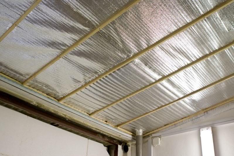 Утепление гаражного потолка фольгированным пенополиэтиленом