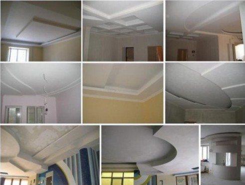 С гипсокартонным потолком можно экспериментировать самостоятельно, тогда как натяжная конструкция устраивается по заранее намеченному проекту