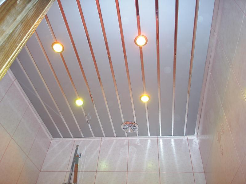 Потолок реечного типа
