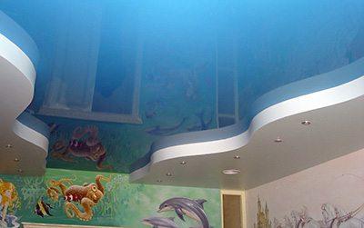 Натяжной потолок в комнате ребенка