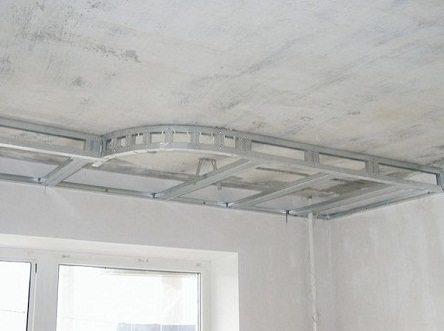 Каркас потолка второго уровня