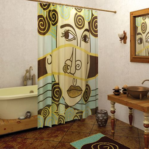 Карниз и шторка гармонично вписались в интерьер ванной