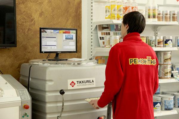 Колеровка водоэмульсионной краски с помощью специального оборудования: быстро и надёжно