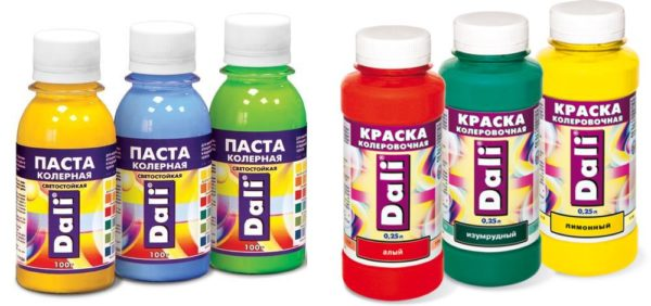 Колеры для водоэмульсионной краски
