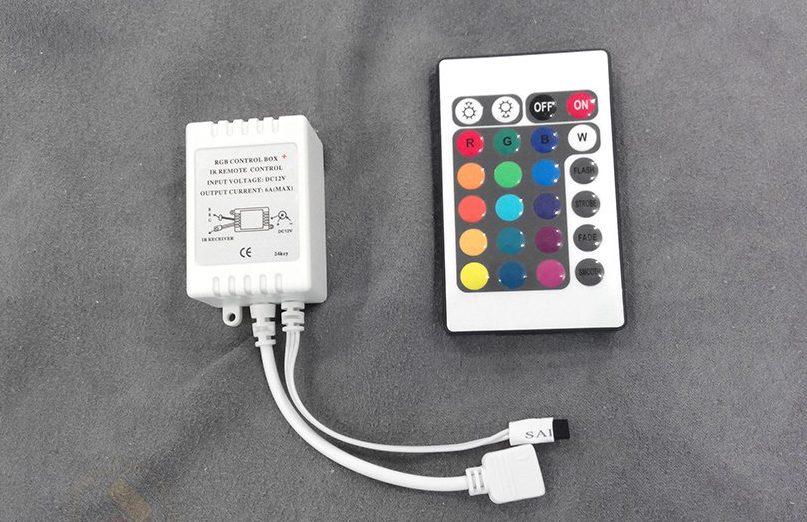 Контроллер и пульт управления для подсветки.