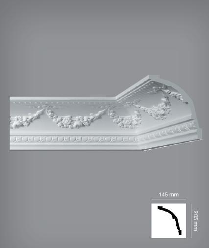 Гибкие инжекционные плинтуса легко повторят форму стены с плавным изгибом