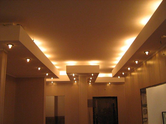 Короб для подсветки потолка своими руками 984