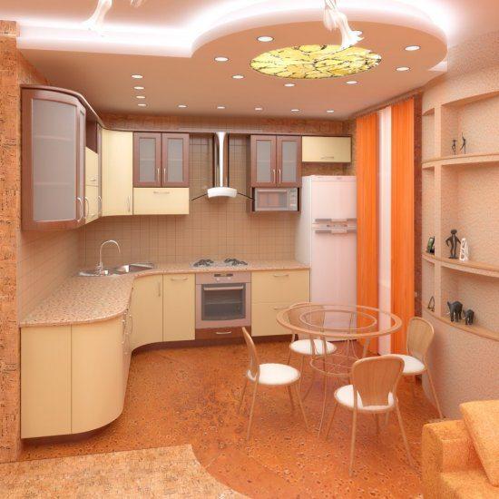 Безупречный вид потолка на кухне