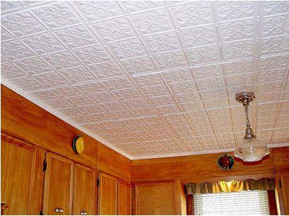Плитка из пенополистирола потолочная – внешний вид