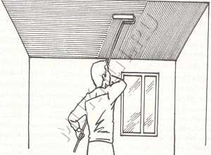 Как нужно правильно красить потолок глянцевой краской
