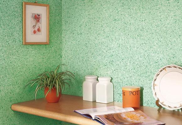 Краска с крошкой для стен также успешно применяется