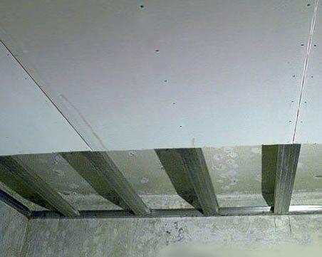 Крепление к потолку гипсокартонных листов