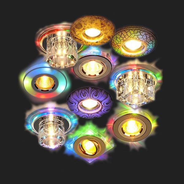 Кристаллы могут светиться самыми разными цветами.